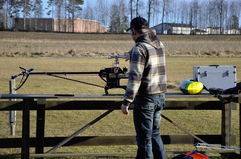 Fredrik förbereder flight